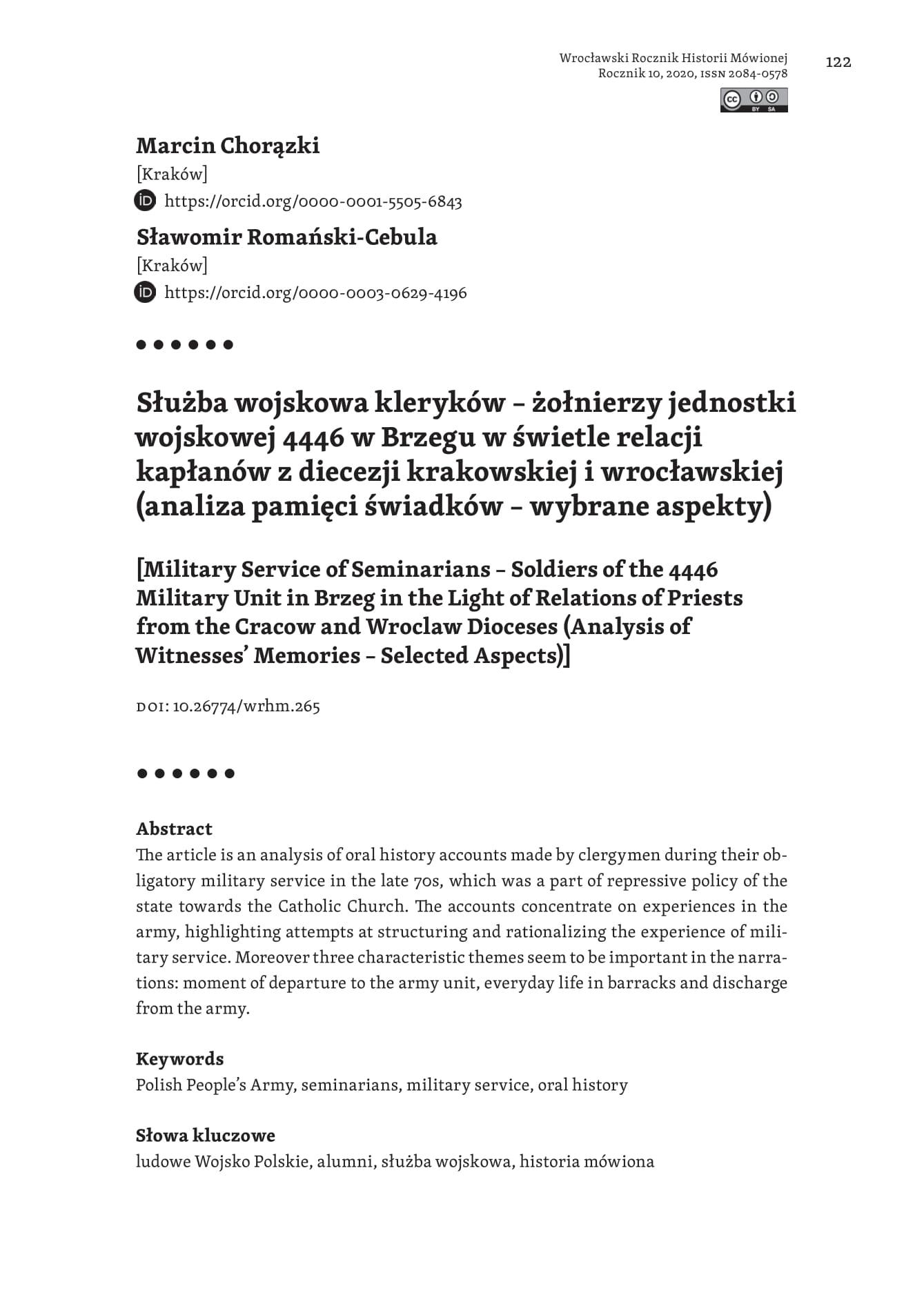 strona tytułowa, Marcin Chorązki_Sławomir Romański-Cebula
