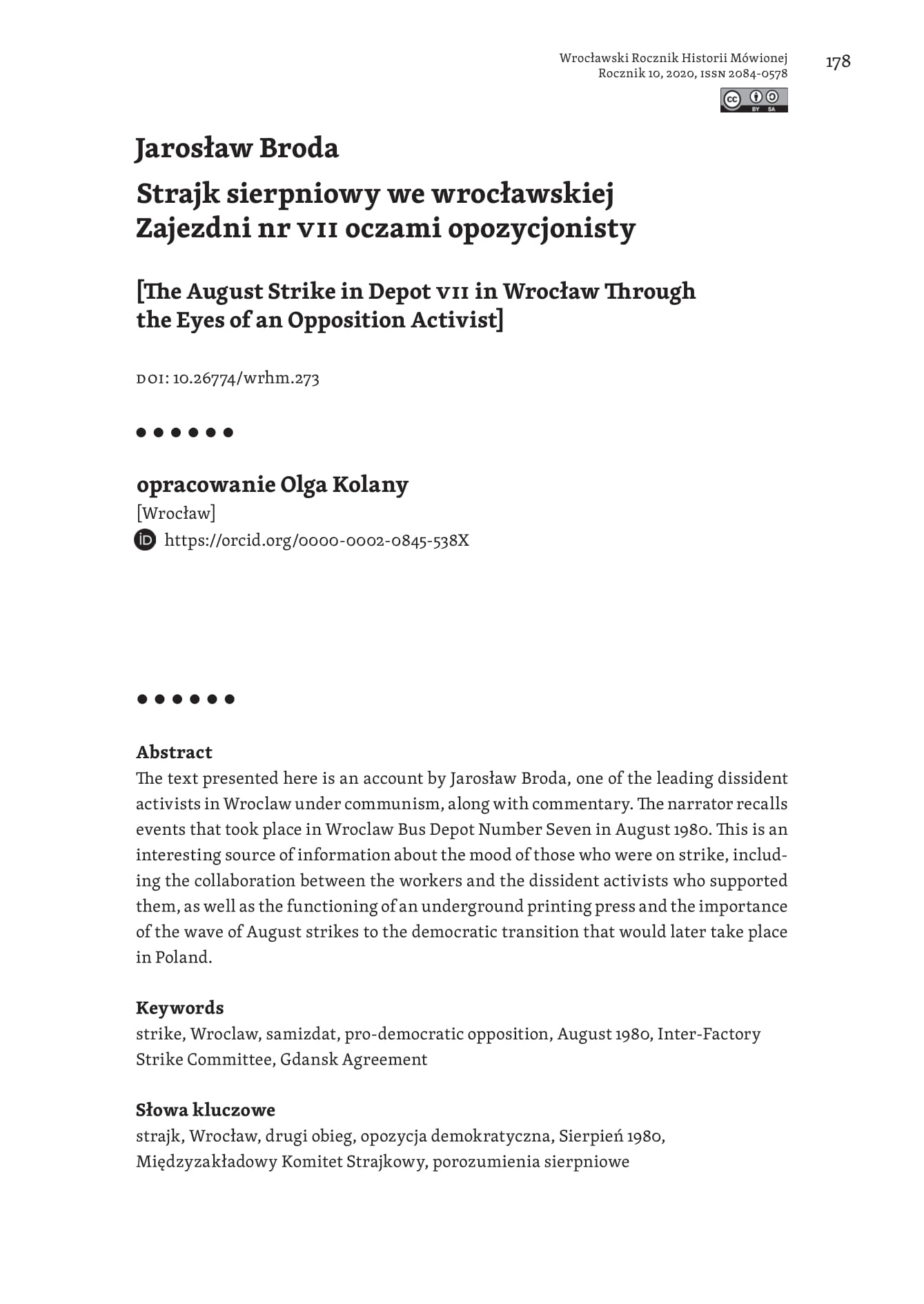strona tytułowa, Olga Kolany